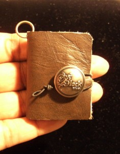 Mini Leather Bound Book Necklace