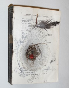 Altered Book Pear Shaped Nest