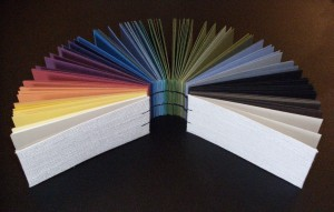 Rainbow Coptic Stitch Binding