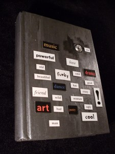 Altered Book with Magnetic Poetry and Peephole