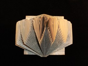 Altered Folded Book folded hearts