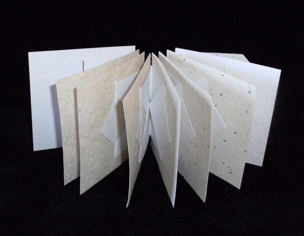 Moeraki Boulders Artist Book, structure by Claire Van Vliet