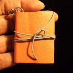 Leather Bound Mini-book Necklace